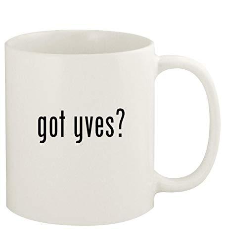 got yves? - 11oz Ceramic White Coffee Mug Cup, White