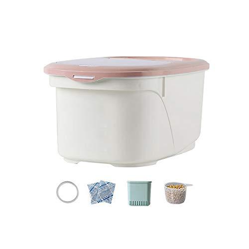 Contenedor de alimentos para mascotas para perros y gatos Contenedor de almacenamiento Alimento seco para animales, con tapa superior de plástico y anillo de goma de sellado