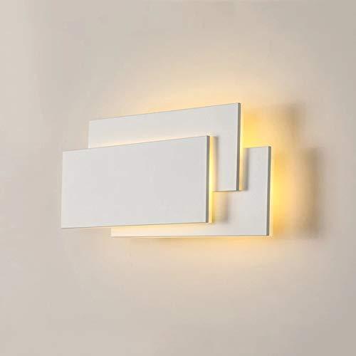 Lámpara de Pared LED 12W Moderno Aplique, Blanco Aplique de Pared LED Interior Moderno para Habitación, Dormitorio, salón, pasillo, Blanco Cálido 3000K