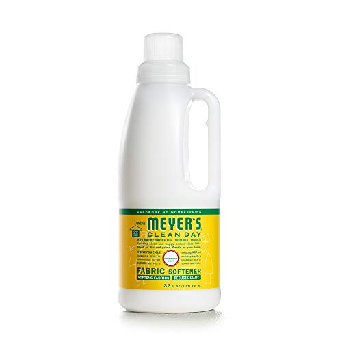 Mrs. Meyer's Clean Day Liquid Fabric Softener, Made Without Parabens, Cruelty Free Formula, Honeysuckle Scent, 32 oz