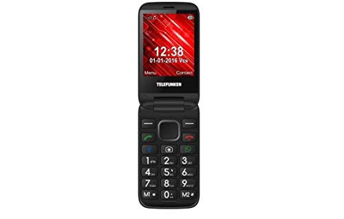Telefunken TM 360 Cosi - Teléfono Móvil, 1 GB, Internet, USB, Radio, Camera, Wifi, Rojo