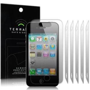 iPhone 4S / iPhone 4 屏幕保护膜 4G 屏幕保护膜 Terrapin Safe & Sound 6 张 iPhone 4 保护活动生活方式保持会说话的手机配件