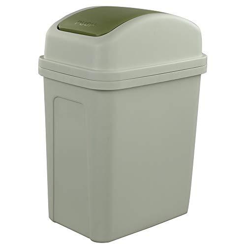Bblie - Cubo de basura con tapa basculante, 12 L, color verde.