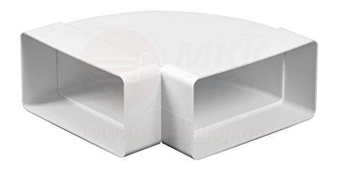 MKK Kanalbogen 90° Grad Horizontal Lüftungskanal 75 x 150 mm Abluft Zuluft Flach- Kanal PVC Verbinder