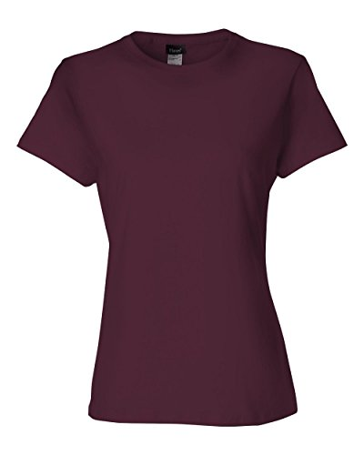 Hanes 4.5 oz Women's NANO-T Lightweight Premium T-Shirt - Maroon - XL