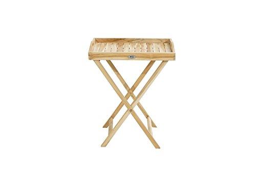 Ploß Outdoor furniture Tablet, Eco Teak Natur, 60 x 45 x 73 cm