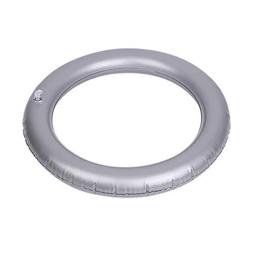 ZSooner Yoga-Ball für Stabilität, Fitness, Balance, rutschfest, verdicktes PVC, tragbar, für Pilates und Explosionssicher, fixierter Ring für Zuhause (hellgrau)