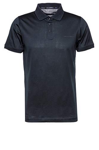 Karl Lagerfeld Herren Poloshirt Press Blau XXL