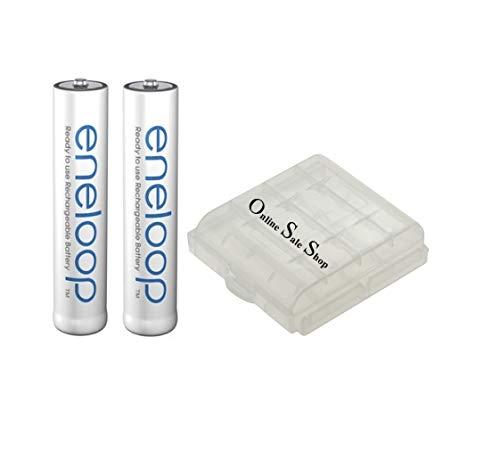 2X Panasonic eneloop AAA Akku 800mAh Wiederaufladbare Batterie Ersatz Akku für Siemens Gigaset Schnurlos Telefon A400 A415 C430 C300 A380 A385 + OSS Akkubox