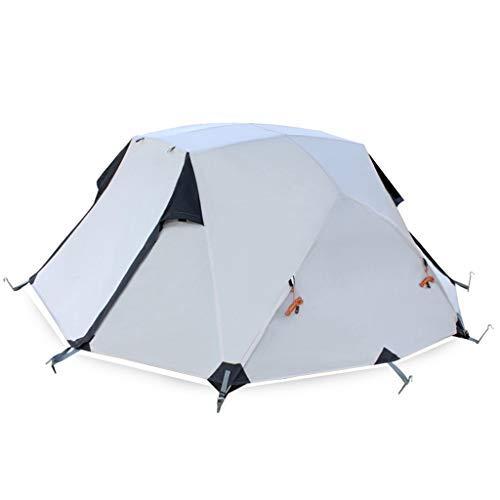 Allamp Tienda de campaña, Camping al Aire Libre Equipo, Cuatro Estaciones a Prueba de Lluvia Doble Doble Aluminio Tienda de campaña, 255 × 215 × 110 cm (Color : A)