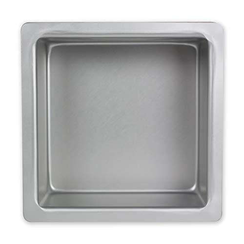 PME Cuadrado Molde para Pastel de Aluminio, Plateado, 7 x 7 x 3 Pulgadas