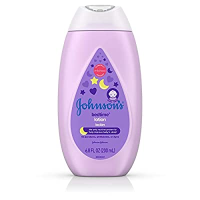 Johnson's Bedtime Baby Lotion with NaturalCalm Essences, Hypoallergenic & Paraben Free, 6.8 fl. oz from J&J CONSUMER INC