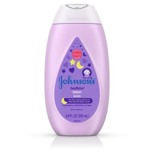 Johnson's Bedtime Baby Lotion with NaturalCalm Essences, Hypoallergenic & Paraben Free, 6.8 fl. oz