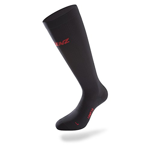 Lenz Compression Socks 1.0, Schwarz, L (38-44 cm)