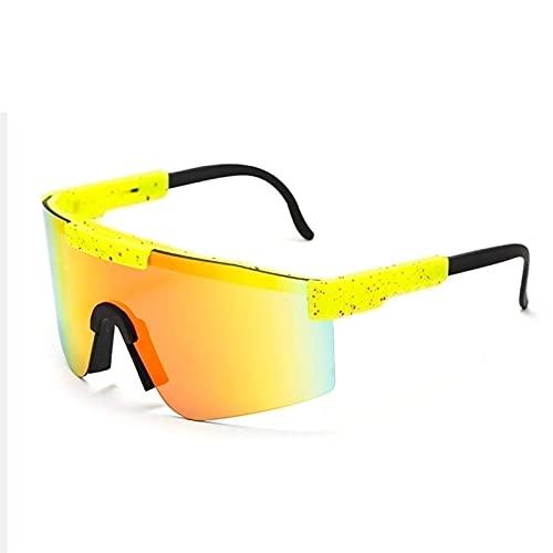 ZXQ Pit-Vipers Gafas De Sol Polarizadas, Gafas De Sol De Ciclismo UV400Polarizadas para Mujeres Hombres Bicicleta De Ciclismo, Gafas De Sol Tr900 Marco Gafas Polarizadas De Doble Ancho