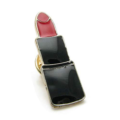 ピンブローチ 口紅 リップ ピン ラペルピン ラベルピン ピンバッチ KS53000 (Bタイプ(中央にブラックの線))