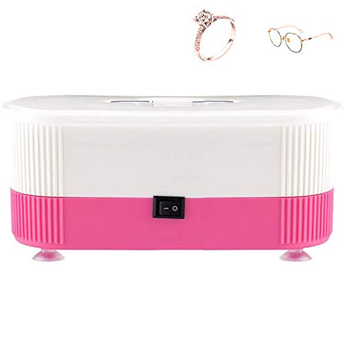 Dlovey Sonic Jewellery Cleaner for Jewellery Jewelry Glasses Watch Metal Coins Dentures,Pink