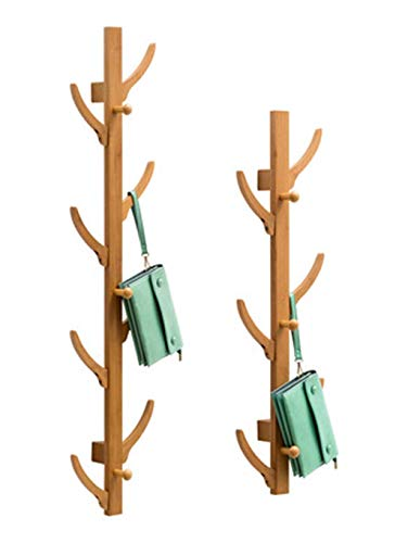 GAOZHEN Coat Rack Wall Mounted Tree Hook Towel Rack Oak Shelf Freestanding Room Decoration In Home And Kitchen 8hooks