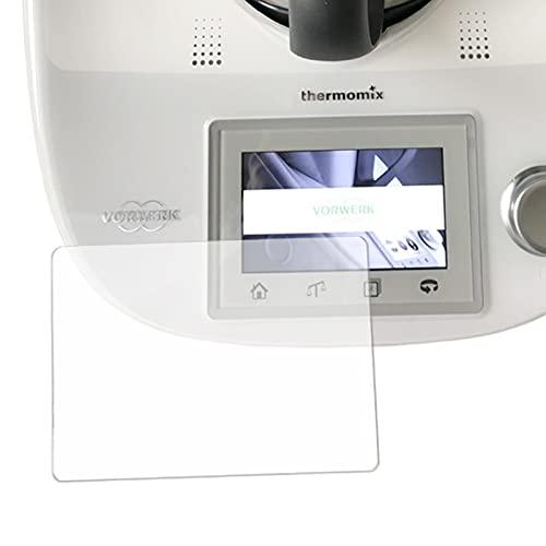 Protector de pantalla de cristal blindado compatible con Vorwerk Thermomix TM5, accesorios...