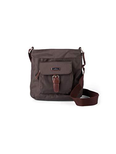 TOM TAILOR Damen Taschen & Geldbörsen Schultertasche Rina braun/brown,OneSize