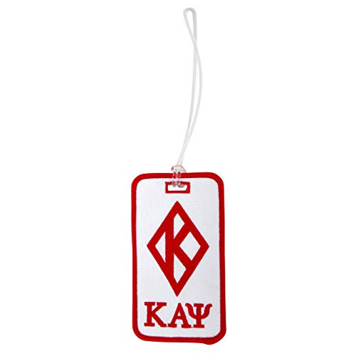 Kappa Alpha Psi Fraternity Diamond w/Letters Embroidered Luggage Tag Bag Nupe (Diamond w/LTR Under Bag Tag)