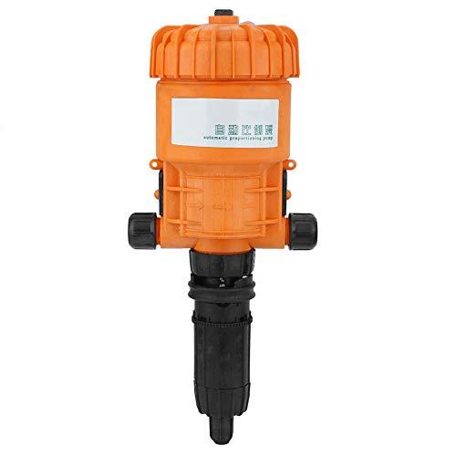 0.2-2% Adjustable Fertilizer Injector,Automatic Fertilizer Injector Water Powered Chemical Liquid Doser Dispenser 10L/h-2500L/h Drip Irrigation Injector for Industry Garden Hose Livestock (Orange)