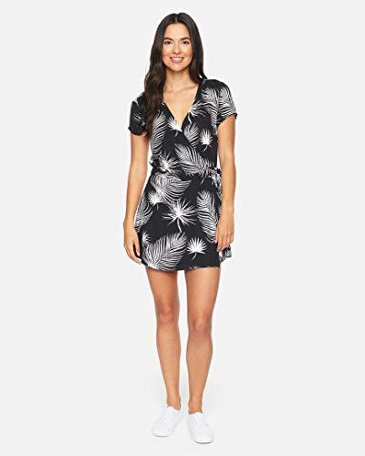 Hurley W Waimea Wrap Dress Vestido, Mujer, Black Palm, S
