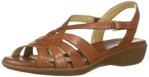 Naturalizer Women's NEKA Sandal, Saddle TAN, 8 M US