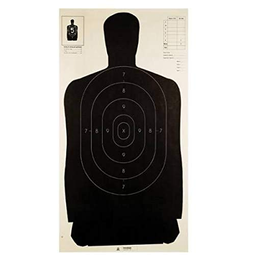 Champion Traps and Targets LE B27 Black Police Silhouette Target (Pack of 100) , 24' x 45'
