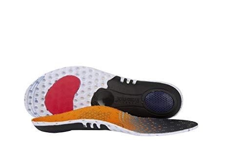 Pro11 Hydro-Tech - Plantillas ortopédicas deportivas con absorción de impacto de doble capa y sistema de soporte metatarsiano (8-12, naranja)