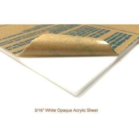 """Translucent white Acrylic Sheet 3//16/"""" x 10/"""" x 24/"""""""