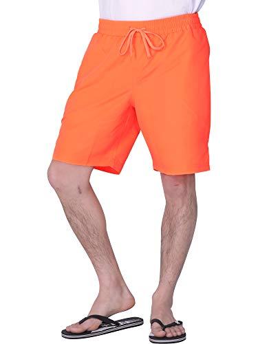 PONTAPES(ポンタペス) サーフパンツ メンズ ロング丈 全18色 PR-4900 フラッシュオレンジ XLサイズ ボードショーツ 水陸両用 水着 海水パンツ ランニング ウェア 蛍光色