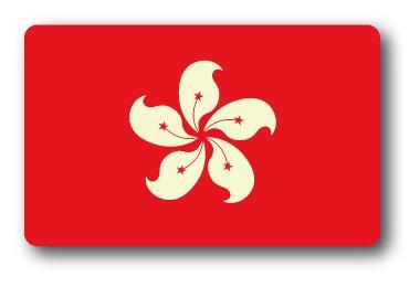 SK-235 100円ステッカー 香港 HONG KONG 国旗ステッカー スーツケース ステッカー