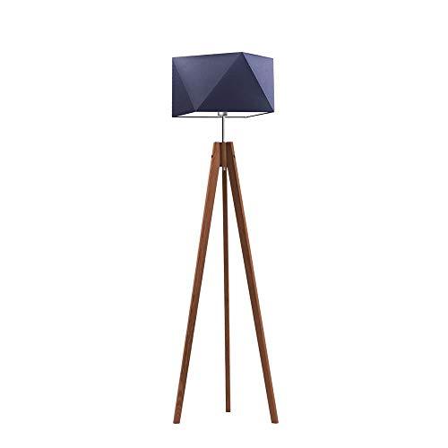 LAGOS - Lámpara de pie con pantalla de lámpara, color azul marino