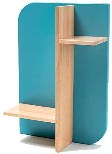Stijlvolle en eenvoudige Home Wandmontage Frame Sky Blauw Effen Hout om een Wandplank Beuken Woonkamer Slaapkamer Display Stand, C-F