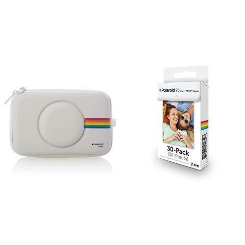 Polaroid PLSNAPEVAW – Kameraetui (Hülle, Polaroid, Eva, Filz, staubbeständig, Kratz- und stoßfest) &  2x3 Zoll Premium ZINK Fotopapier- Kompatibel Sofortbildkameras, Zip Sofortbilddrucker