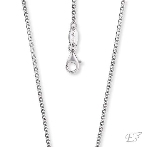 Engelsrufer - dezente Damen Halskette ohne Anhänger aus 925 Sterling Silber, einfache Frauen Schmuck Silberkette mit Karabinerverschluss, silberne filigrane Damenkette nickelfrei