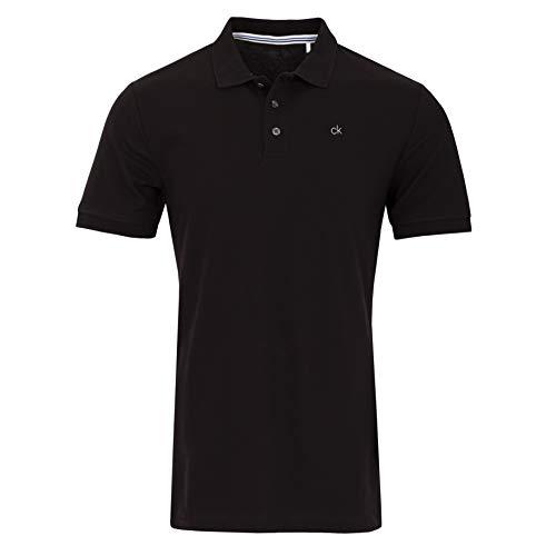 Calvin Klein Herren Midtown Radical Cotton Polo Golf-T-Shirt, schwarz, Mittel