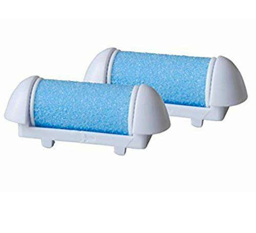 Nature Tech Pedicure Refills callus remover Replacement Roller Heads,Mineral Stone Grinding Rollers Callus Shavers-Pack of 2 (Blue) Does NOT Fit Pad Egg Device