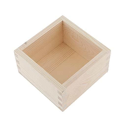 JIEERCUN Caja de Almacenamiento Caja de Madera sin Caja de Almacenamiento Cuadrado para joyería Cajas de joyería (Color : Burlywood 1)