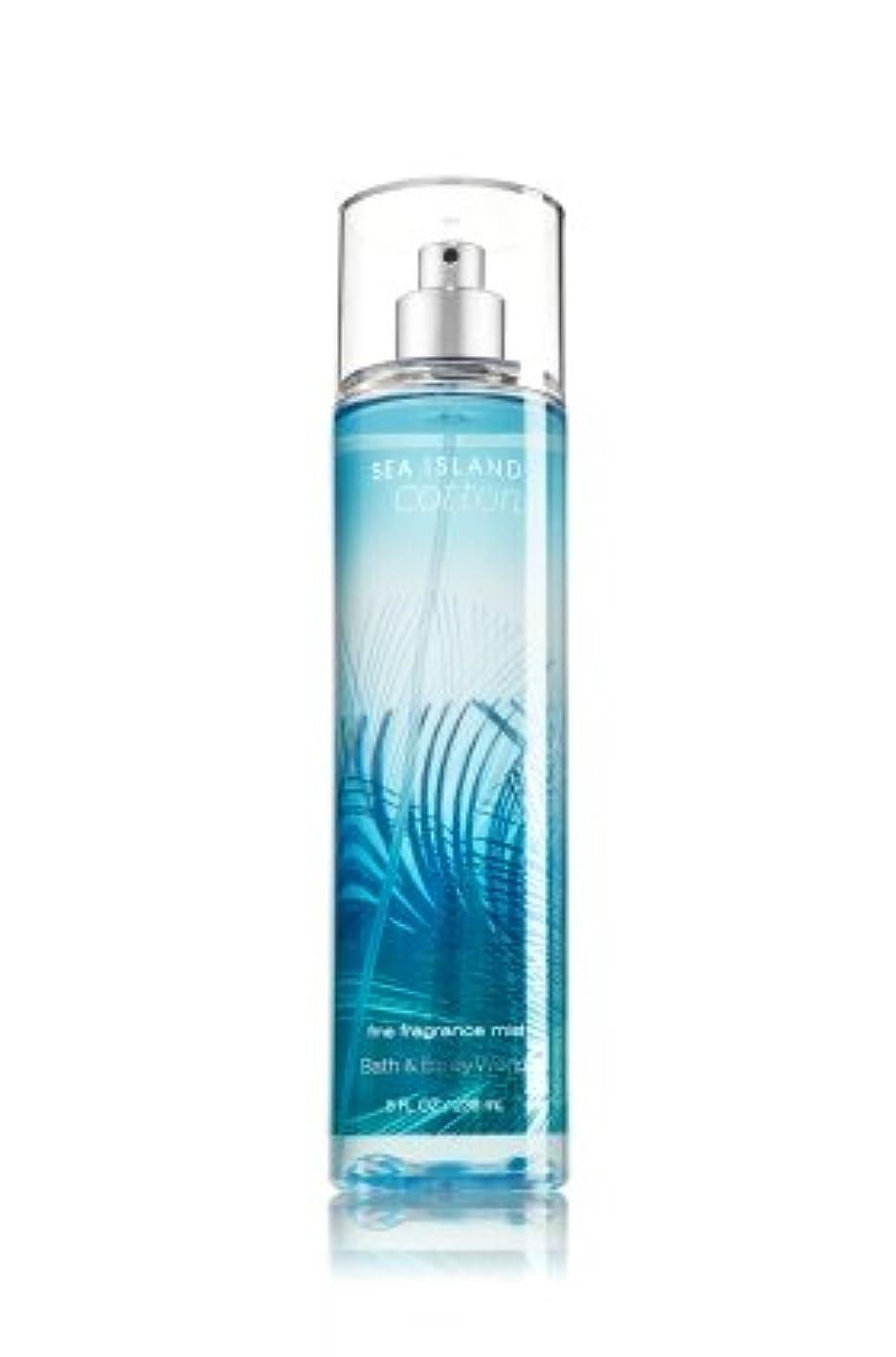 自己尊重報奨金ボーダー【Bath&Body Works/バス&ボディワークス】 ファインフレグランスミスト シーアイランドコットン Fine Fragrance Mist Sea Island Cotton 8oz (236ml) [並行輸入品]