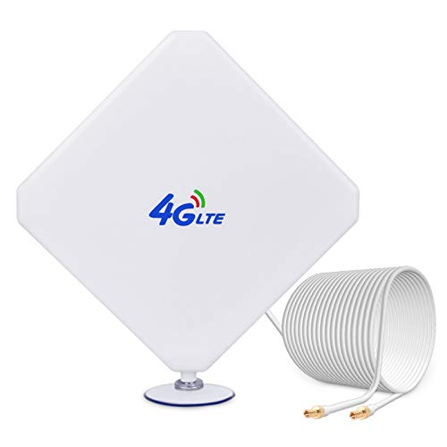 4G LTE Antenna TS9, 35dBi GSM High Gain Antenna Dual Mimo WiFi Signal Booster Amplifier Modem Adapter Network Reception Long Range Antenna with TS9 Connector Cable for Mobile Huawei Hotspot