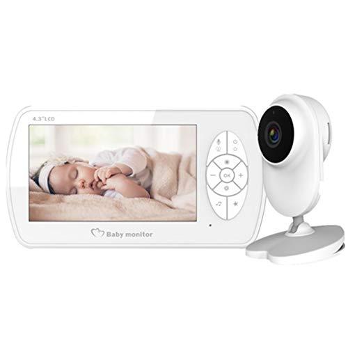 Babyfoon Met Camera, Wireless 1080P 4,3 Inch Video Display 2-Way Talk, Night Vision, Temperatuurcontrole, 6 Lullabies Music, For Babykamers