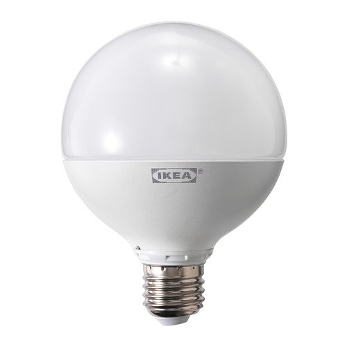 Ikea Ledare - Bombilla LED E27, regulable, globo blanco ópalo, 95 mm, 95 mm, 1000 lm