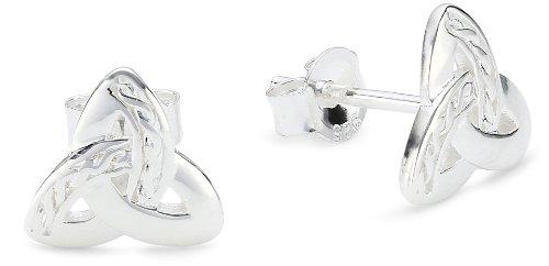 Vinani Ohrstecker Trinity glänzend Symbol keltisch Dreieinigkeit Sterling Silber 925 Ohrringe OTR