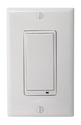 LINEAR GoControl, WS15Z-1, Zwave Wall Mount Switch,White,Small