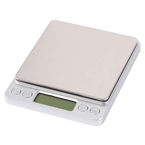 Hemoton Digitale Keukenweegschaal Van Roestvrij Staal Met Lcd-Scherm Keukenweegschaal Voor Bakken en Koken Zonder Batterij (1000 G / 0 1 G)