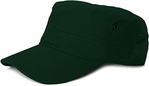 styleBREAKER Cap im Military-Stil aus robustem Baumwoll Canvas, verstellbar, Unisex 04023020, Farbe:Dunkelgrün