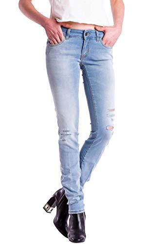 Meltin'Pot - Jeans Monie D0158-UB590 für Frau, Tapered Stil, eng passend, sehr niedrige Taille, mit abschürfungen