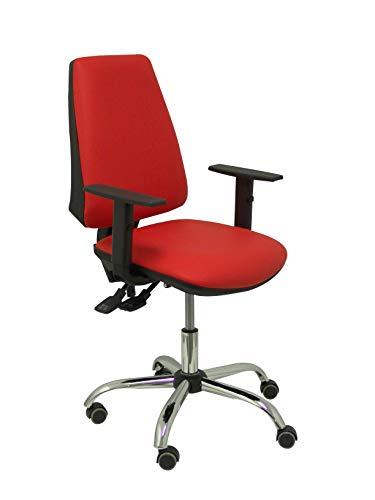 Piqueras en Crespo Ergonomische bureaustoel, sync-mechanisme, in hoogte verstelbaar, zitting en rugleuning bekleed met kunstleer, verstelbare armen, geheugenschuim model Elche S 24 uur.